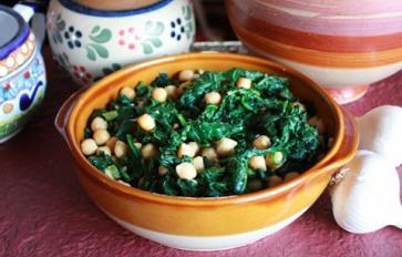 Meatless Monday: Spanish-Style Chickpeas With Spinach