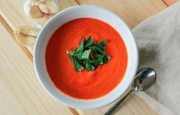 Meatless Monday: Silky, Sweet & Spicy Roasted Red Bell Pepper Soup