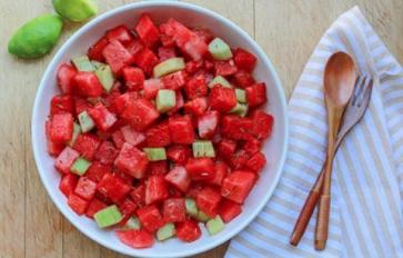 Meatless Monday: Hydrating Watermelon Salad With Cucumber & Spices